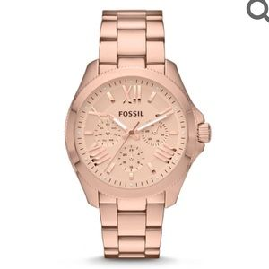 FOSSIL CECILE ROSE-TONE STAINLESS STEEL WATCH